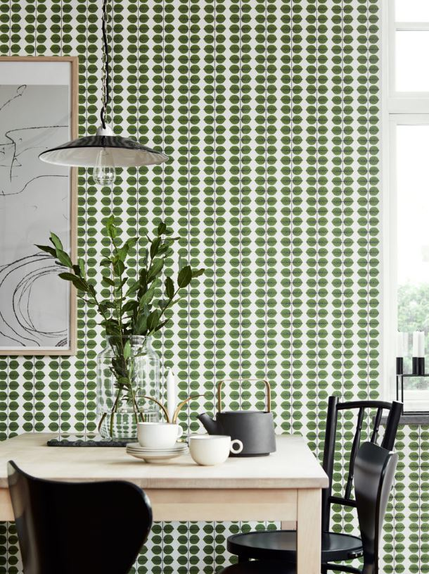 Boras Tapeter Scandinavian Designers 2 Wallpaper Green Botanical Leaf