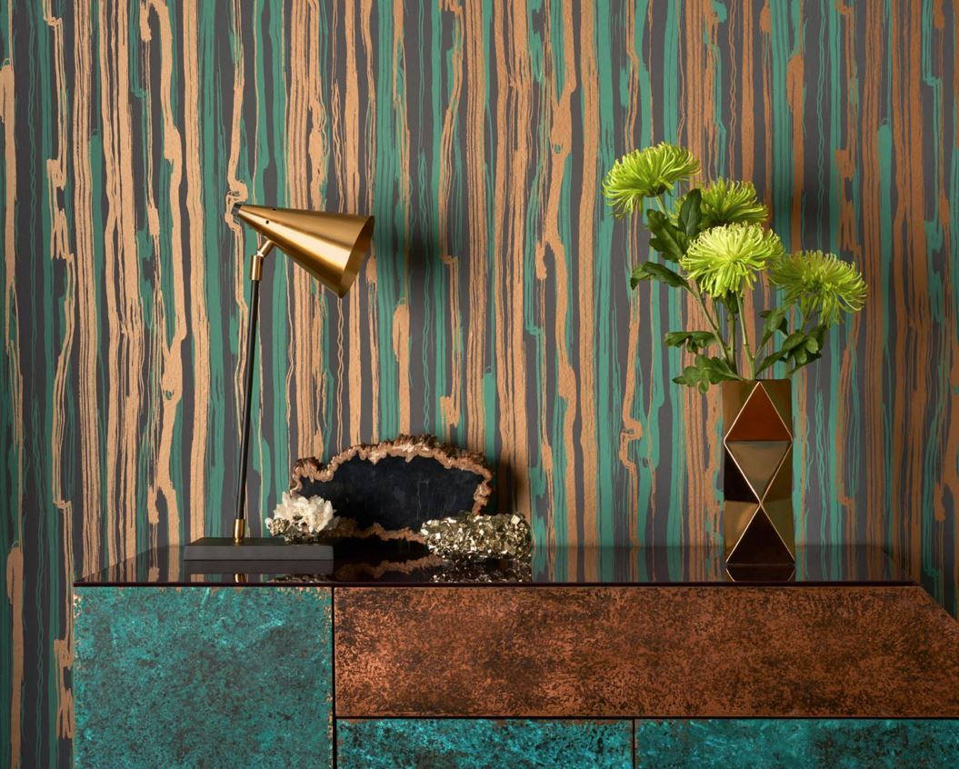 Cole and Son Curio Wallpaper Interior Design Mineral Metallic
