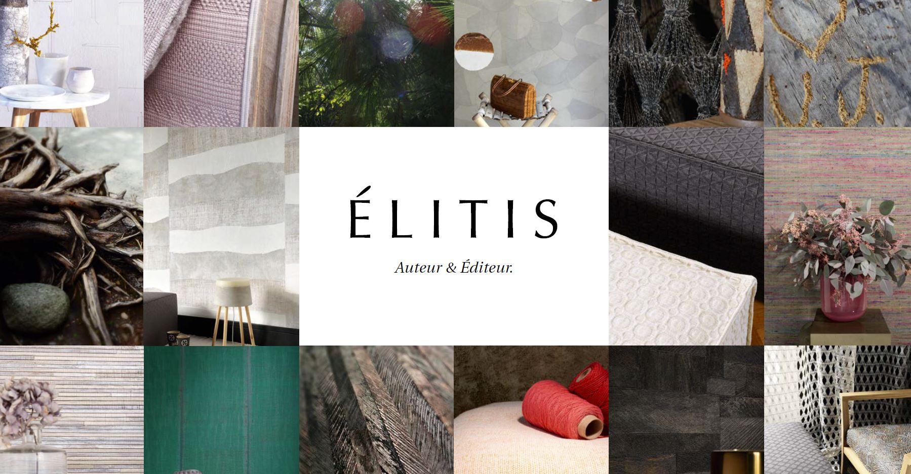 Elitis Fabrics, Wall-coverings and Accessories 2016 Interior Design