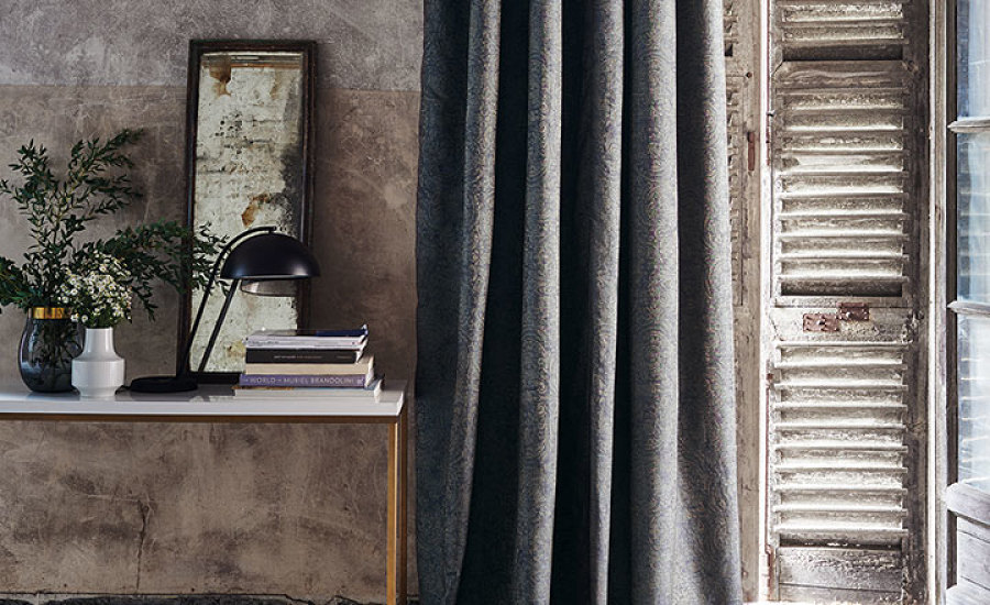 Black Edition Herbaria Kaleido Fabrics and Weaves Interior Design Seneca Textiles