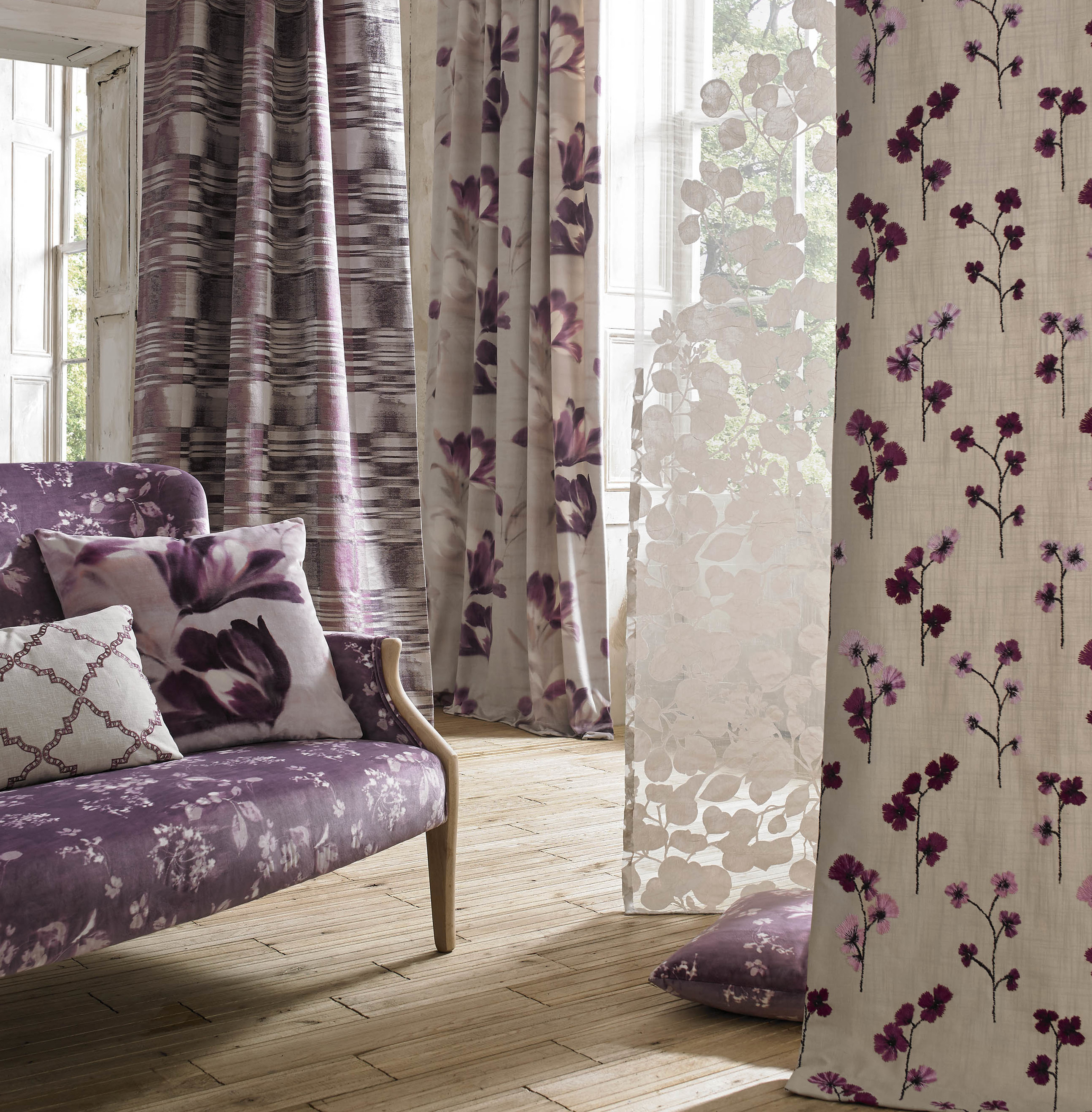 Renoir Kai Fabrics Ashley Wilde Charles Parsons Interiors Upholstery Curtains Cushions