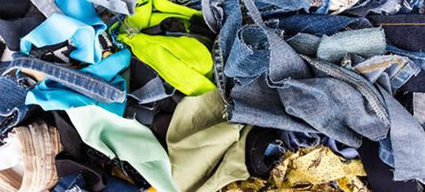 Textiles waste, recover fabrics